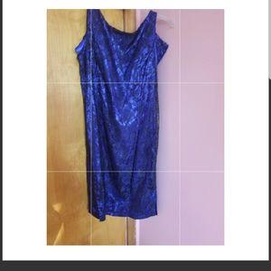 Vintage blue cocktail dress sz 14